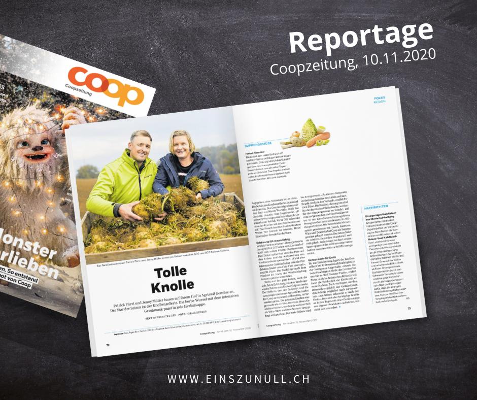Tolle Knolle: Produzentenbericht für Coop