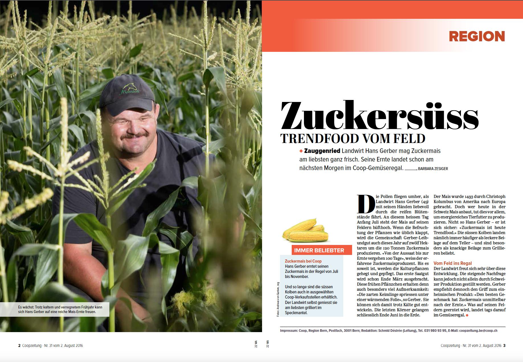 Coopzeitung - Nr. 31 vom 2. August 2016