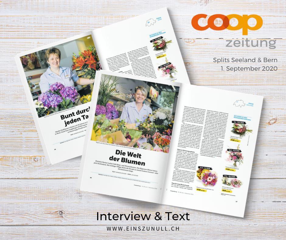 Sommer- & Herbstblumen: Mitarbeiterporträts für Coop