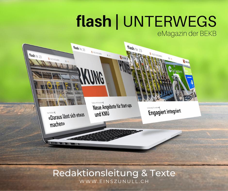 «UNTERWEGS»: Das neue BEKB flash ist online!