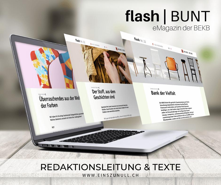 «Bunt»: Das neue BEKB flash ist online!