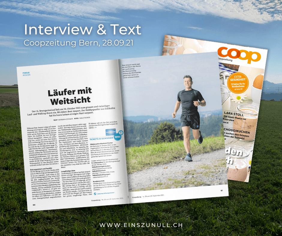 Läufer mit Weitsicht: Interview und Text für die Coopzeitung