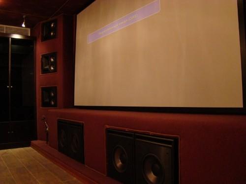 Персональный кинозал, 2009 г., Загородный дома (цокольный этаж), Акустика Klipsch THX-серия, проектор InFocus (фото 1)