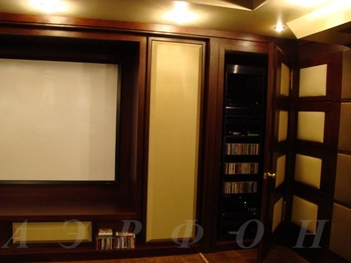 Персональный кинозал, 2006 г., Загородный дома (цокольный этаж), Акустика Cervin-Vega!, проектор Optoma (фото 3)