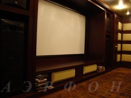 Персональный кинозал, 2006 г., Загородный дома (цокольный этаж), Акустика Cervin-Vega!, проектор Optoma (фото 4)