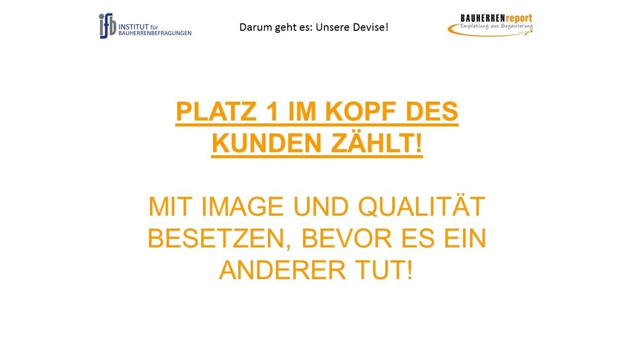 BAUHERRENreport GmbH: Nur Platz 1. im Kopf der Bauinteressenten zählt