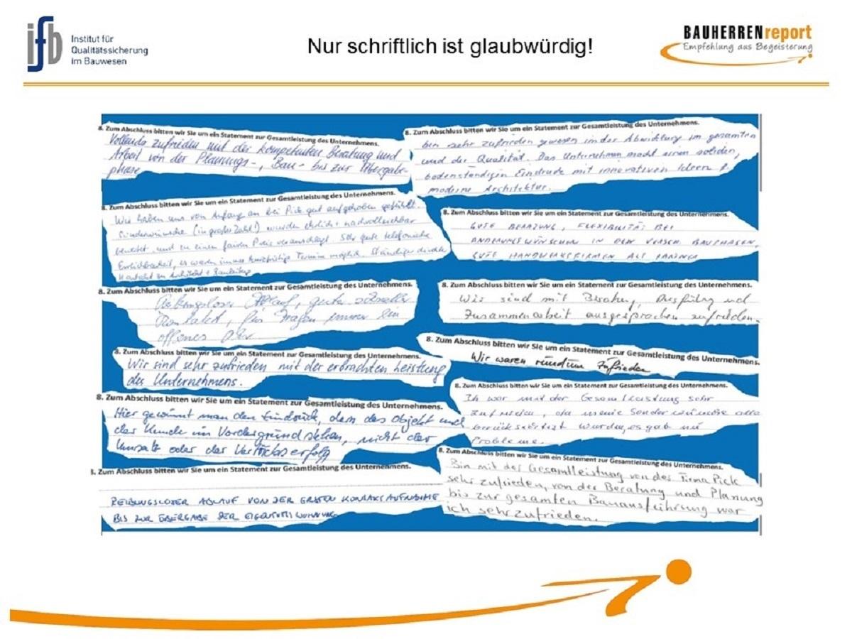 BAUHERRENreport GmbH: Bauunternehmen sollten Qualität so darstellen, wie sie ist