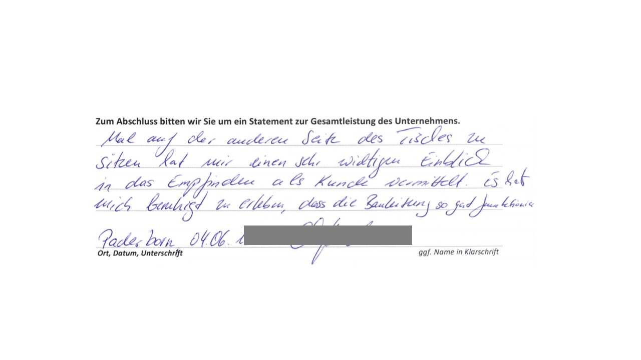BAUHERRENreport GmbH: Wie Bauunternehmen mehr Rezensionen bekommen