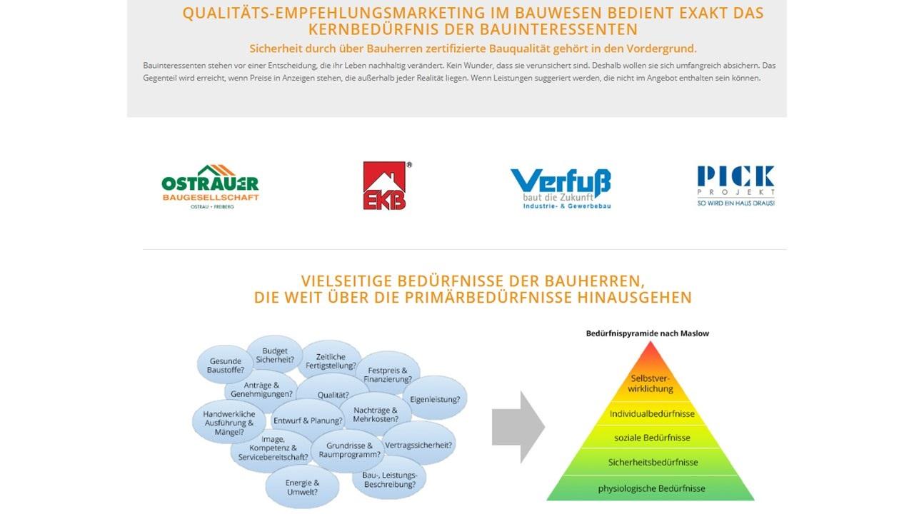 BAUHERRENreport GmbH: Fachberater sollten mehr auf Probleme von Bauinteressenten eingehen