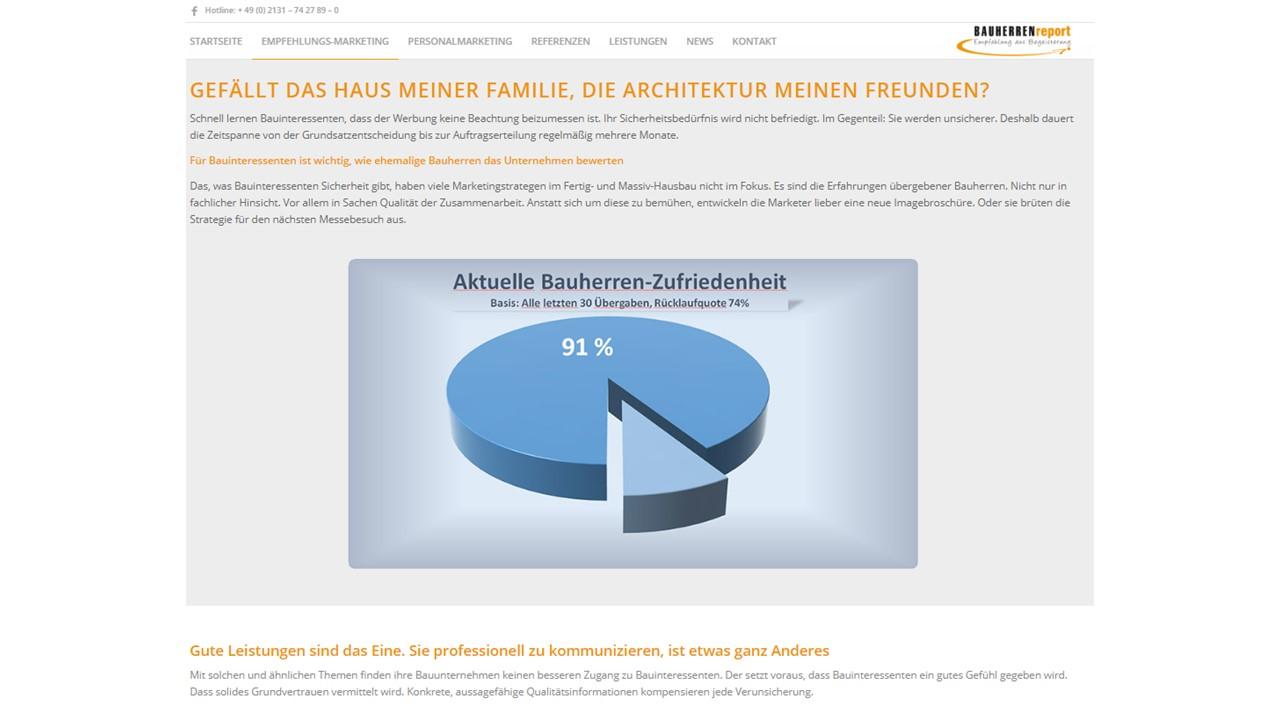 BAUHERRENreport GmbH: Probleme der Bauinteressenten lösen, nicht Bauleistungen verkaufen