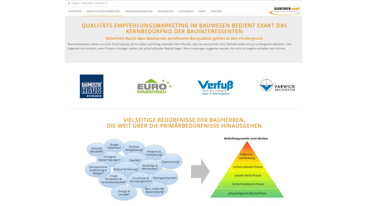 BAUHERRENreport GmbH: Gezieltes Marketing mit Rezensionen über Bauunternehmen