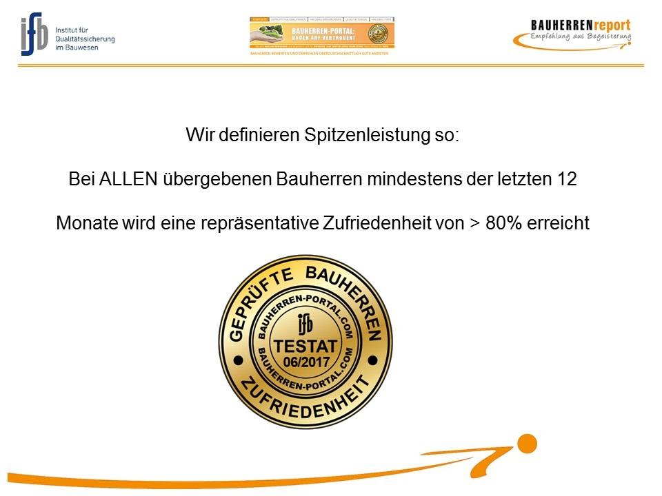 BAUHERRENreport GmbH: Qualitätsversprechen war einmal, Qualitätsbelege sind gefragt