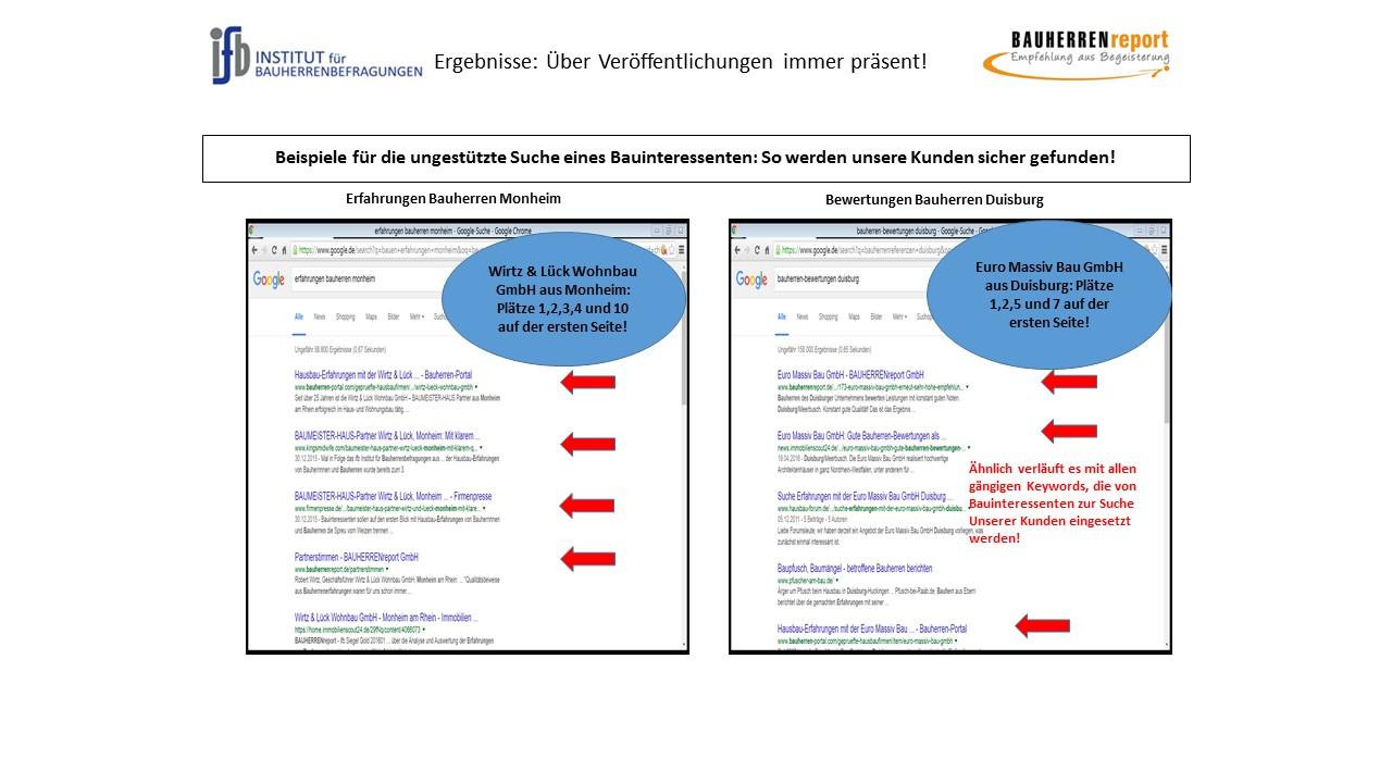 BAUHERRENreport GmbH: Sichtbarkeit der Qualität des Bauunternehmens ist Chefsache