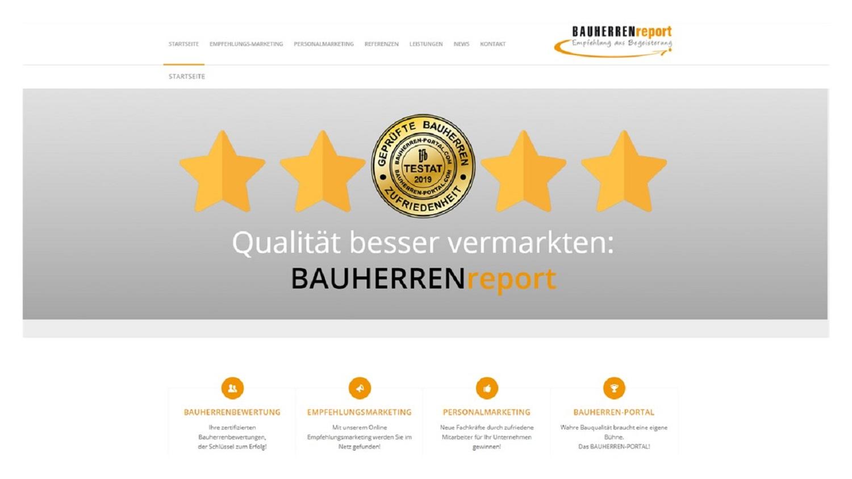 BAUHERRENreport GmbH fördert Qualitätsanbieter aus dem Haus- und Wohnungsbau