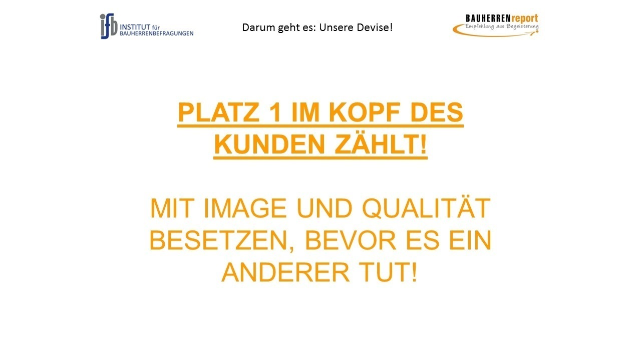 BAUHERREN-PORTAL: Als Bauunternehmen mit Qualität und Image auf Platz 1. der Region