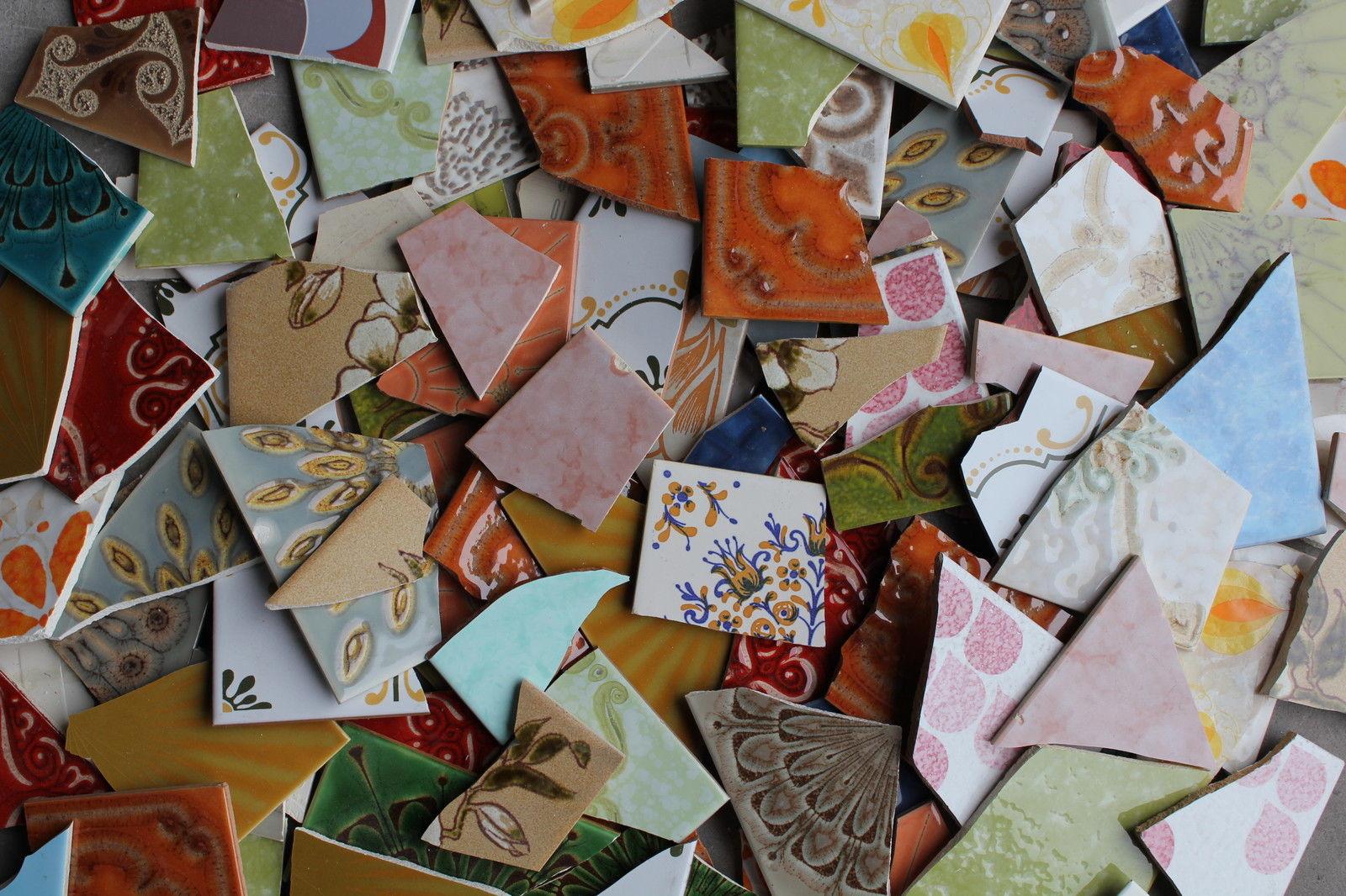 Mosaikfliesen Bruchfliesen Fliesenbruch Retrobruch - Mosaik fliesen frostfest
