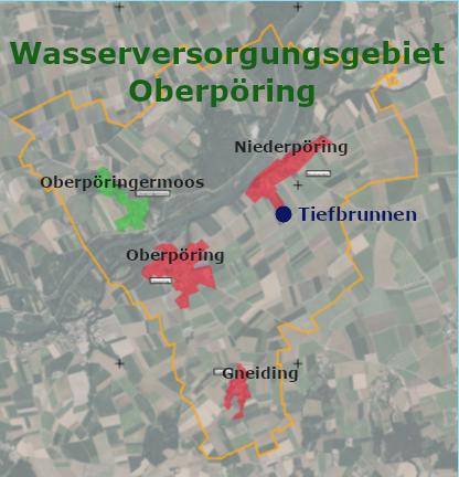Bild: Wasserversorgungsgebiet Gemeinde Oberpöring