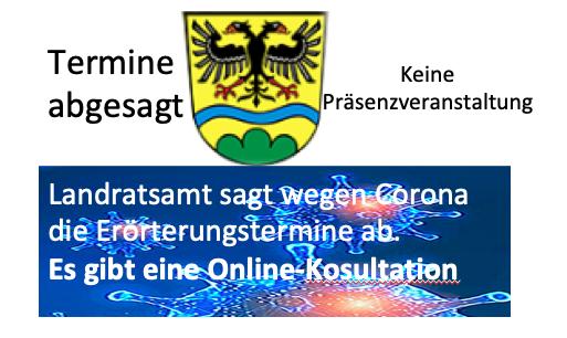 Erörterungstermin findet online statt