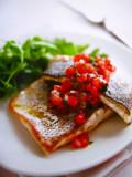 Filets de féra et concassé de tomates