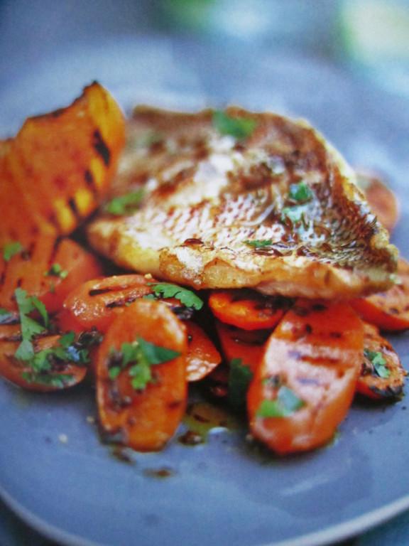 Truites aux carottes