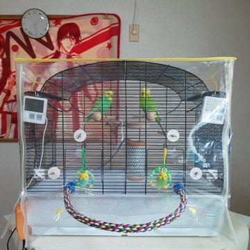 透明カバー 飛び散り防止カバー 防寒カバー 鳥用 うさぎ用 ハムスター デグー モルモット用 防寒 餌飛び散り
