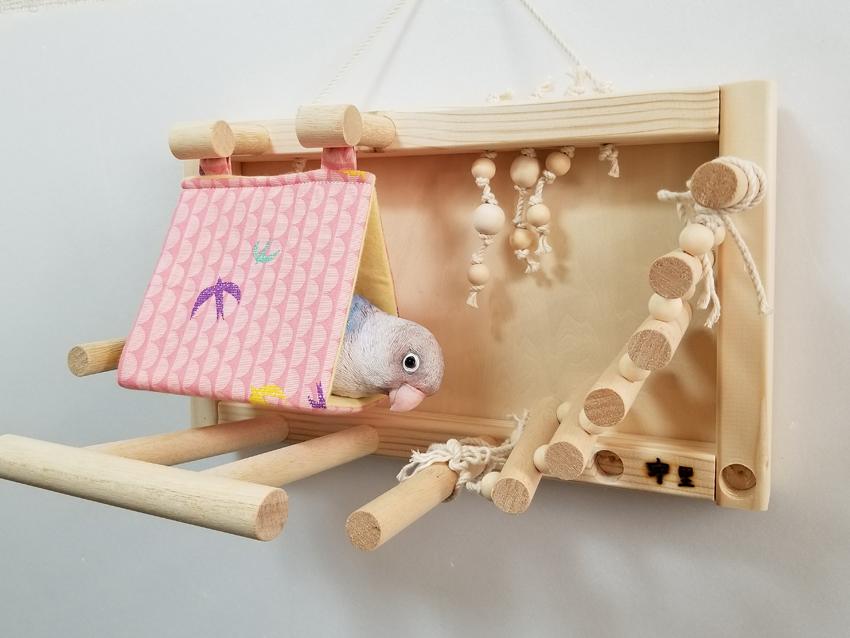 壁がけ バードアスレチック(春夏用バードテント付)