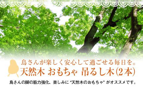 天然木 おもちゃ(吊るし木 2本)タイトル