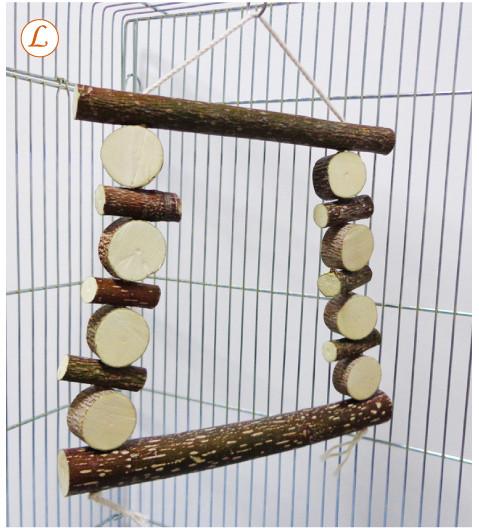 天然木 おもちゃ(ブランコ)L