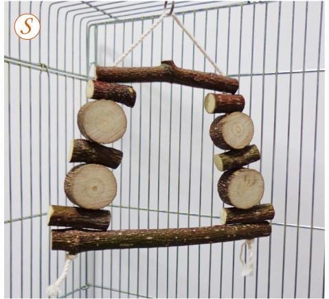天然木 おもちゃ(ブランコ)S