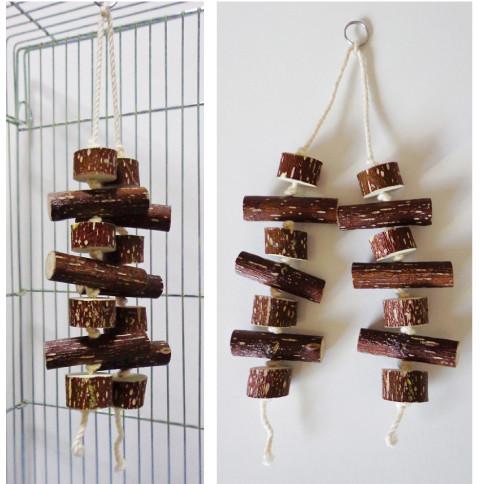 天然木 おもちゃ(吊るし木 2本)