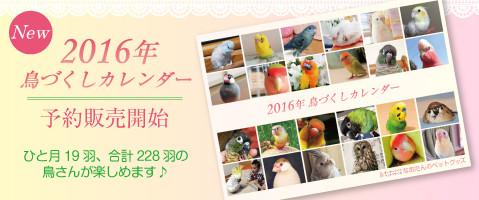 2016年鳥づくし壁掛けカレンダー
