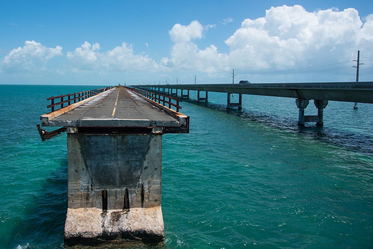 die alte und die neue Strasse nach Key West