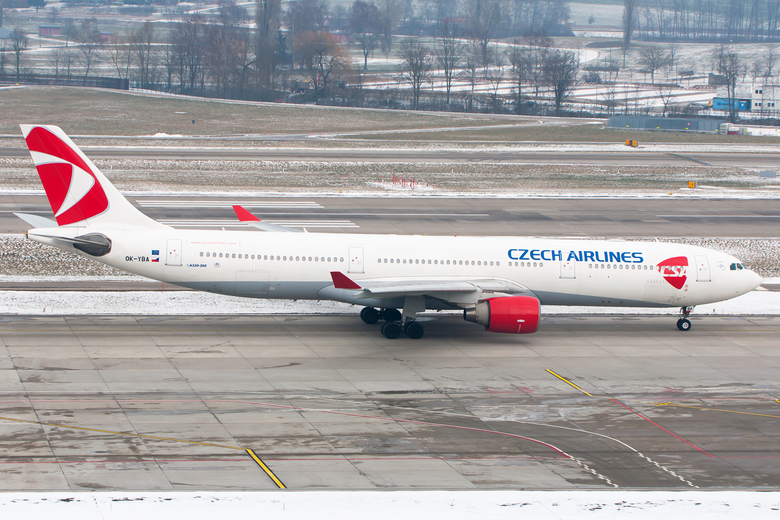 CSA leaves ZRH after a short maintenance