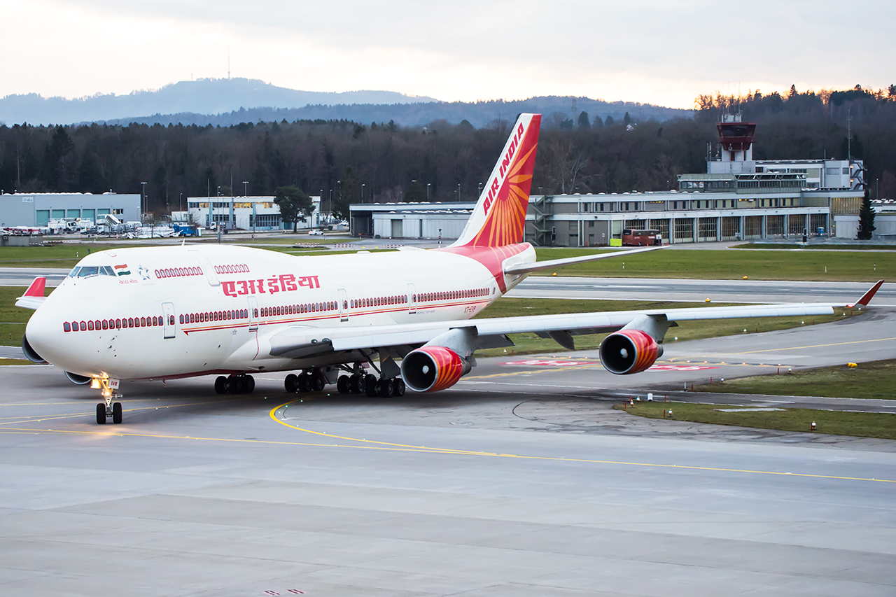 Air India with the Prime Minister is leaving ZRH