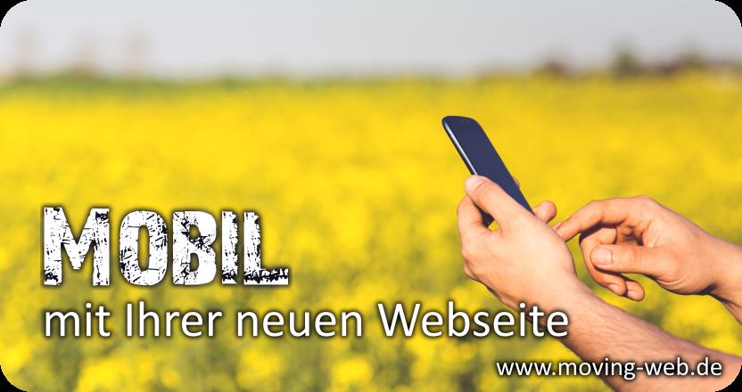 Mobile Ansicht Ihrer Webseite autmoatisch optimiert für alle Smartphones.