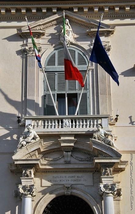 L'entrata principale a Palazzo