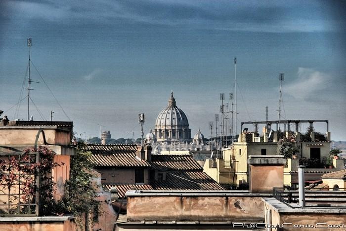 veduta di San Pietro dalla Balaustra sulla Piazza