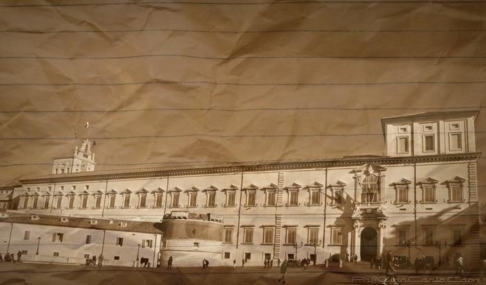 Veduta del Quirinale dalla Piazza -Anticata-