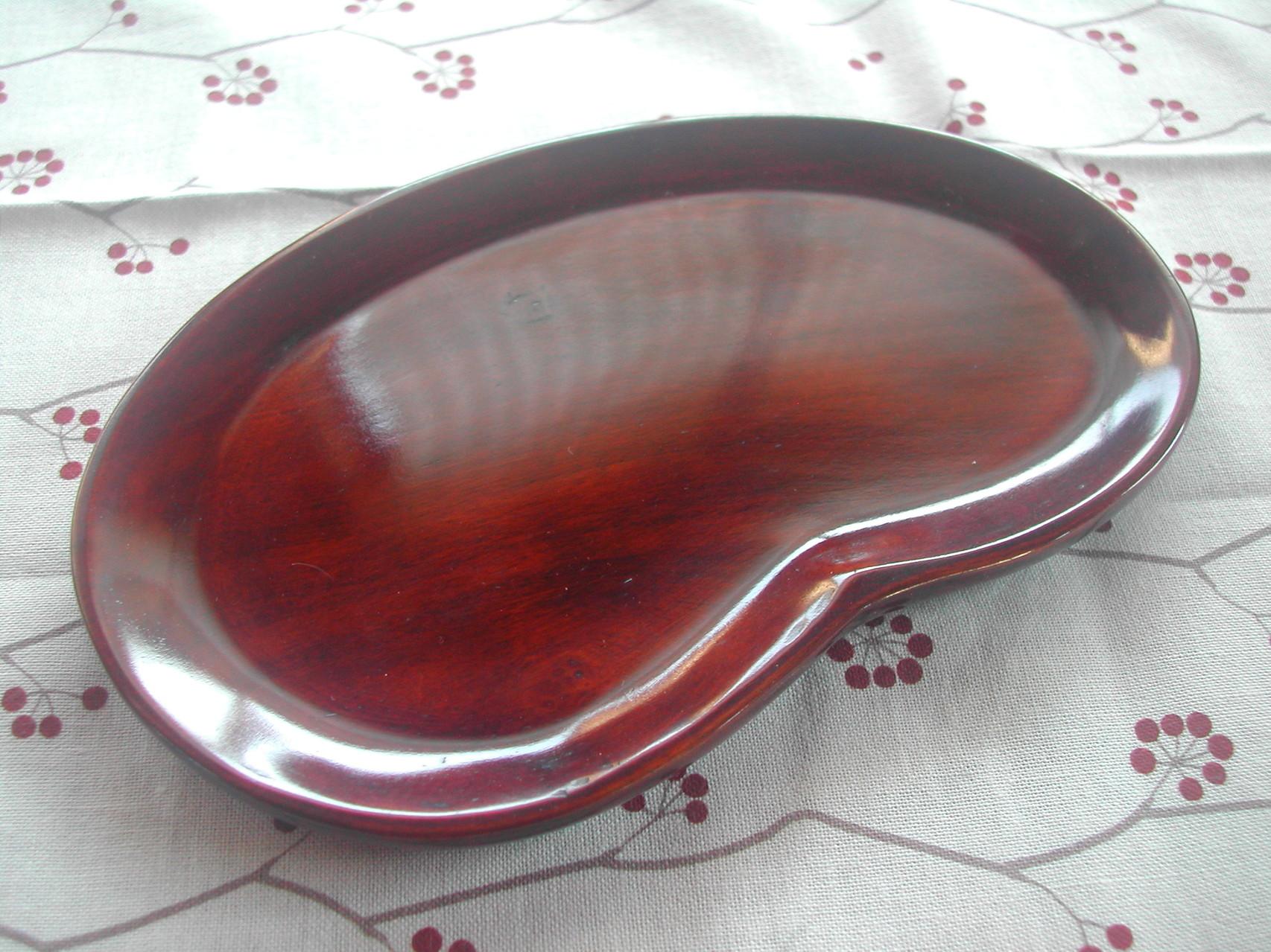 そら豆皿(桜/拭き漆仕上げ)