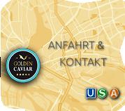 Grafik: Anfahrtskizze zu GOLDEN CAVIAR nach Hamburg