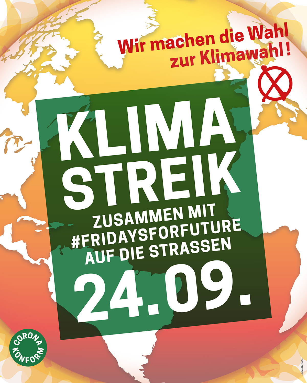 Klimastreik zusammen mit Fridays für Future