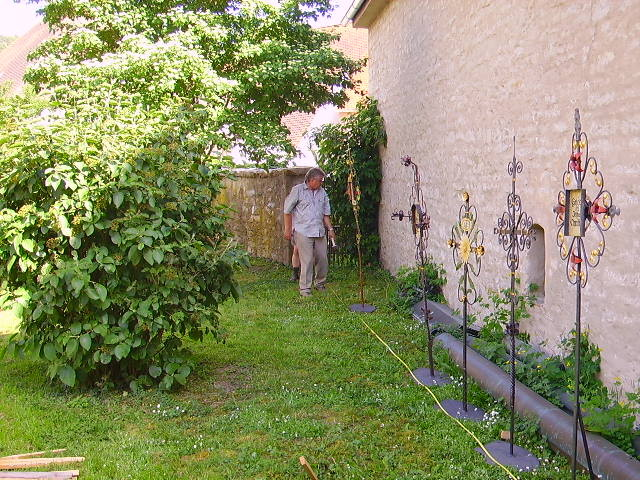 Erste Stellprobe im Lorenzgarten