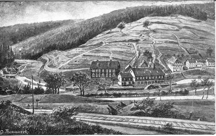 Kupferstich Ansicht Kahler Berg