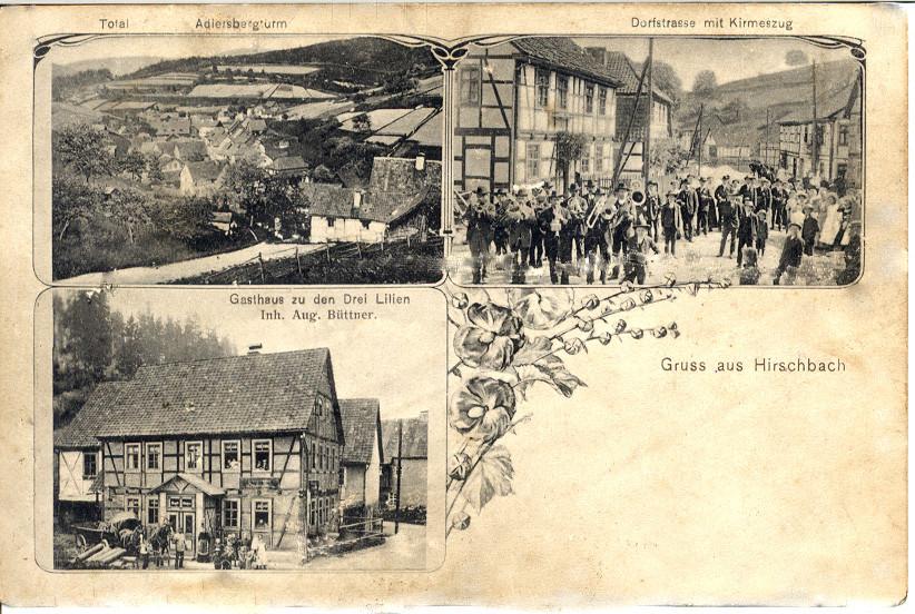 Postkarte Hirschbach