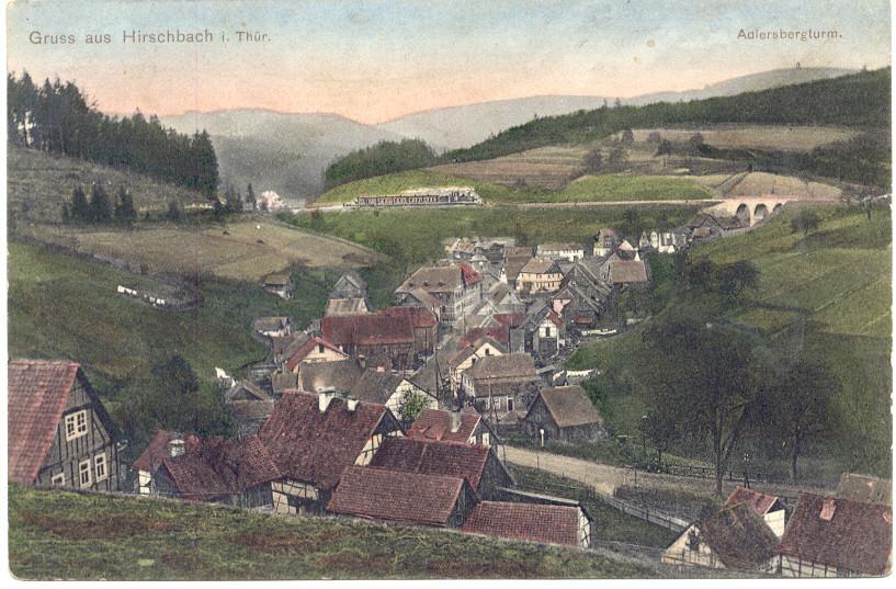 Postkarte 1915 (Blick Viatukt / Adlersberg )