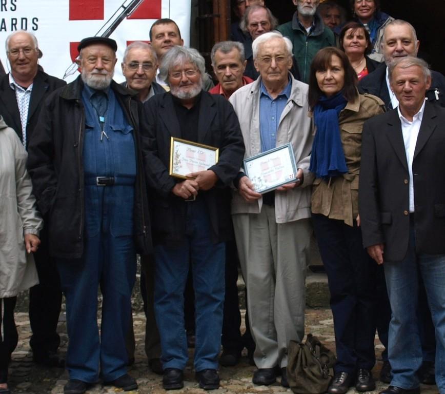 avec Michel Butor, JP Spilmont et H. Vulliez à Clermont