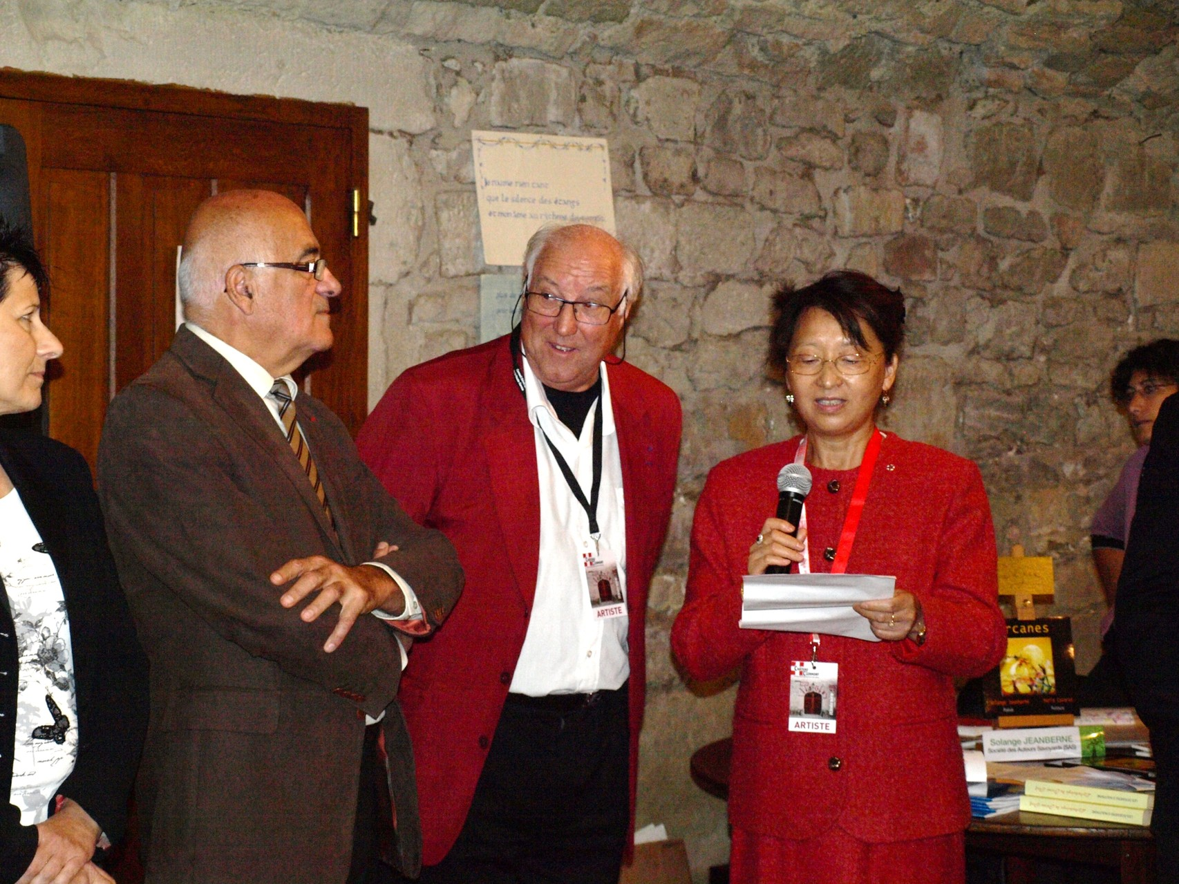 avec Chaoing Sun-Durand Plume d'Or 2014 (sept 2013)
