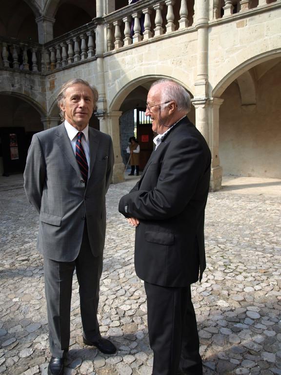 avec Jean Cristophe Rufin, Plume d'Or de la SAS à Clermont en septembre 2010