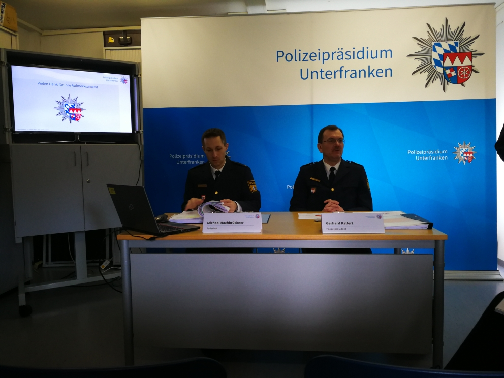 Pressekonferenz am 04.03.2020 in der Jugendverkehrsschule Aschaffenburg. Vorstellung der Unfallbilanz 2019