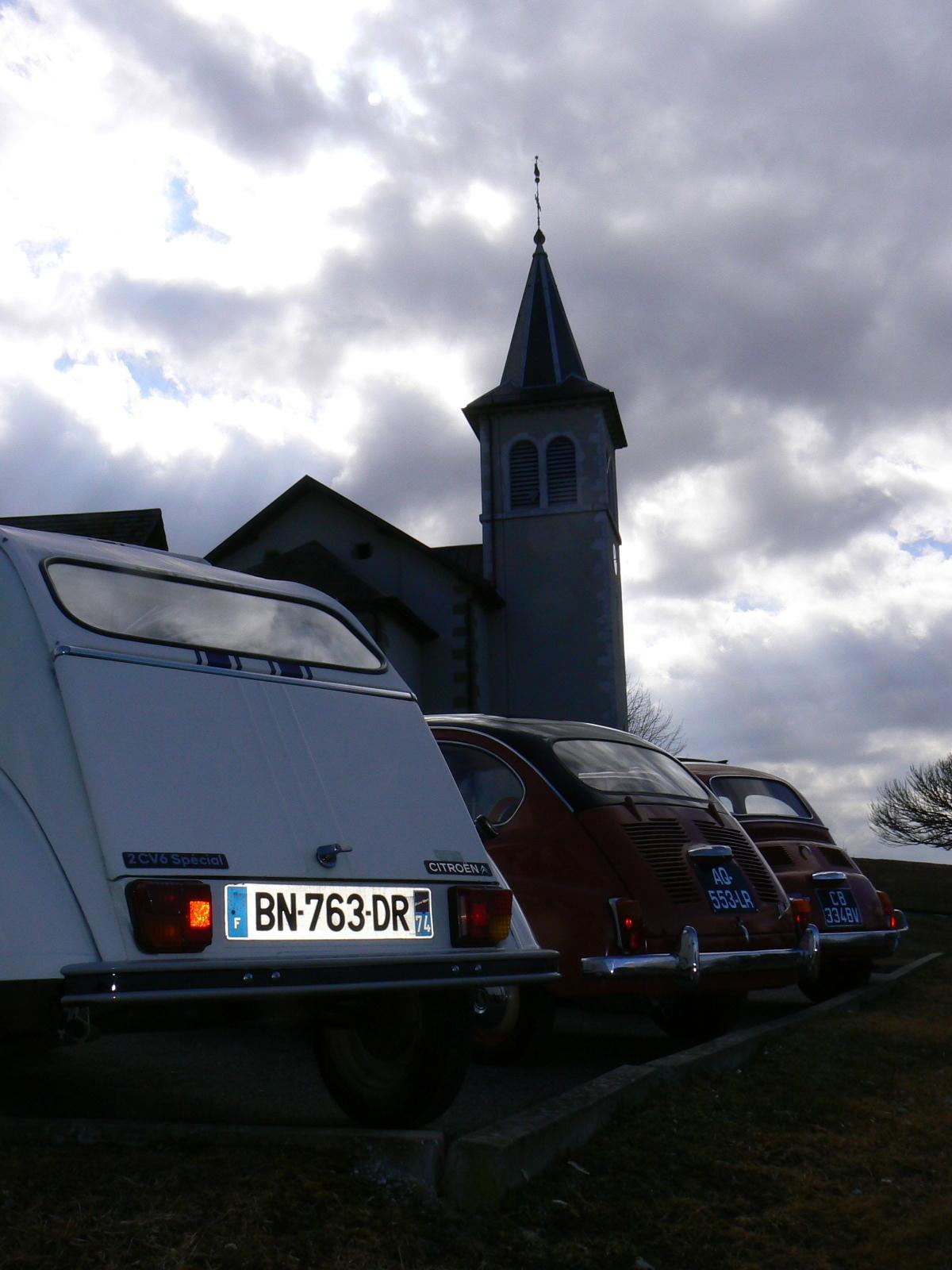 2cv, Deuche, Fiat 500 et 600, Saint Sylveste